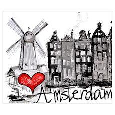 I love Amsterdam Poster