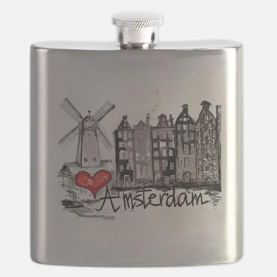 I love Amsterdam Flask