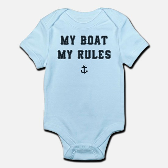 My Boat My Rules Baby Light Bodysuit