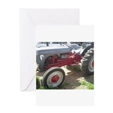 Old Grey Farm Tractor Greeting Cards