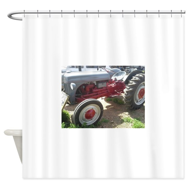 Tractor Shower Curtain : Old grey farm tractor shower curtain by plum end ltd gifts