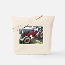 Old Grey Farm Tractor Tote Bag