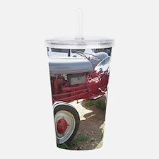 Old Grey Farm Tractor Acrylic Double-wall Tumbler