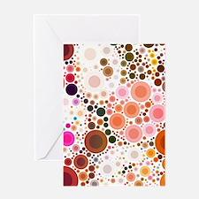 mod circles pattern Greeting Cards