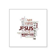 "Cute Faith Square Sticker 3"" x 3"""