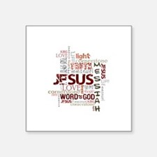 "Cute And the word was with god Square Sticker 3"" x 3"""