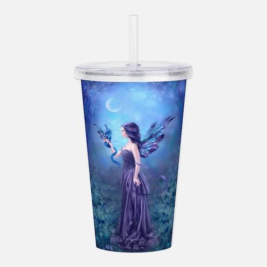 Iridescent Fairy And Acrylic Double-Wall Tumbler