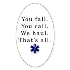 You Fall... Oval Decal