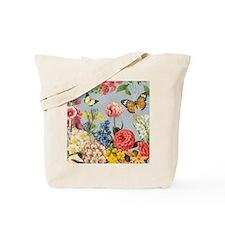 Modern Vintage botanical flowers Tote Bag