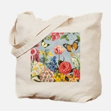 Modern Vintage botanical flowers Tote Bag