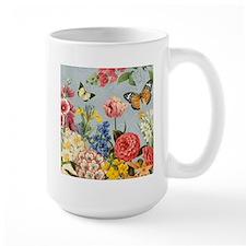 Modern Vintage botanical flowers Mugs