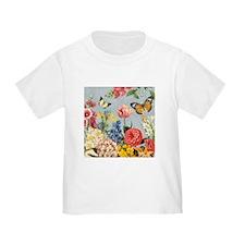 Modern Vintage botanical flowers T-Shirt