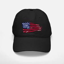 Tattered US Flag Baseball Hat