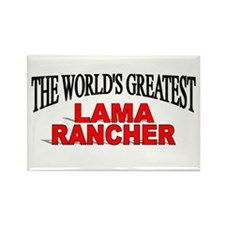 """""""The World's Greatest Lama Rancher"""" Rectangle Magn"""