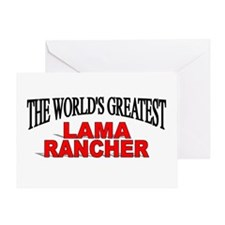 """The World's Greatest Lama Rancher"" Greeting Card"