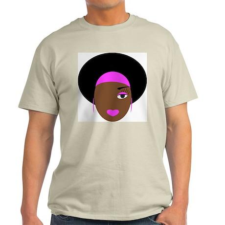Afro Diva in Pink Light T-Shirt