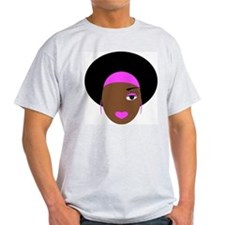 Afro Diva in Pink T-Shirt