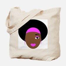 Afro Diva in Pink Tote Bag