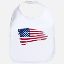 Tattered US Flag Bib