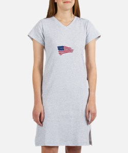 Tattered US Flag Women's Nightshirt