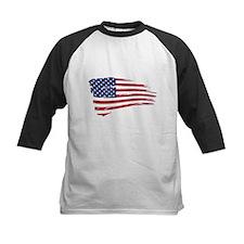 Tattered US Flag Baseball Jersey