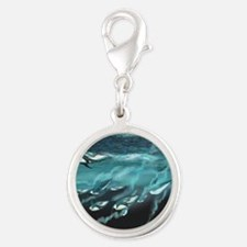 Taking the Plunge Silver Round Charm