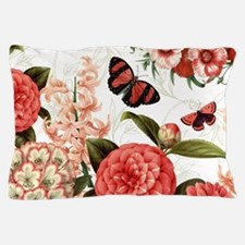 Modern vintage botanical flowers Pillow Case