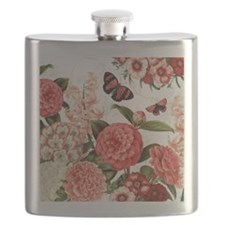 Modern vintage botanical flowers Flask