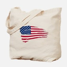 Tattered US Flag Tote Bag