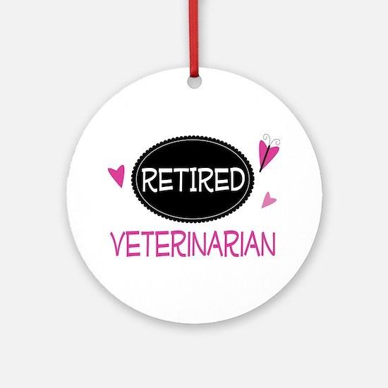 Retired Veterinarian Ornament (Round)
