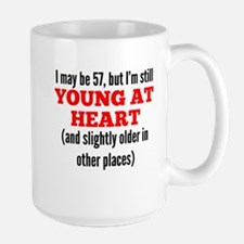 57 Years Old Young At Heart Mugs