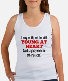 49 Years Old Young At Heart Tank Top