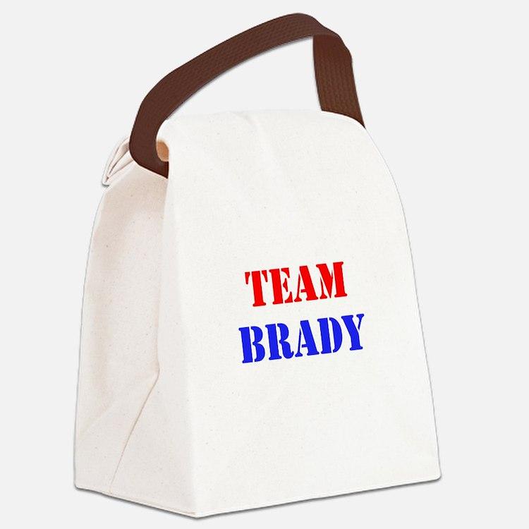 Team Brady Canvas Lunch Bag