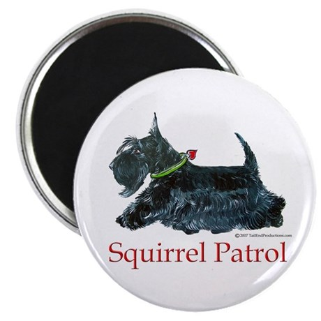 Scottie Squirrel Patrol Magnet