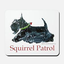 Scottie Squirrel Patrol Mousepad