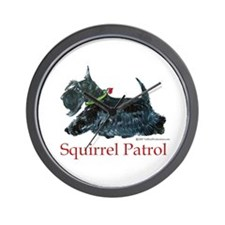 Scottie Squirrel Patrol Wall Clock