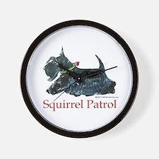 Scottie Squirrel Patrol Wall Clock