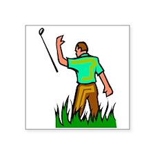 Angry Golfer Sticker