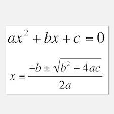 Quadratic Equation Postcards (Package of 8)