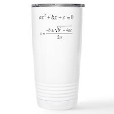 Quadratic Equation Travel Mug