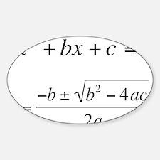 Quadratic Equation Decal