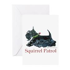 Scottie Squirrel Patrol Greeting Cards (Pk of 10)