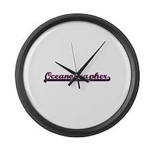 Oceanographer Classic Job Design Large Wall Clock