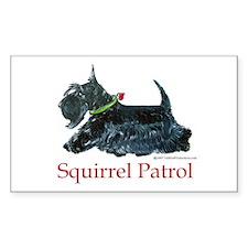 Scottie Squirrel Patrol Decal