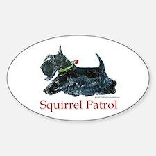Scottie Squirrel Patrol Sticker (Oval)