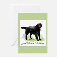 Flat-Coated Retriever Greeting Card
