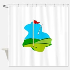 Eighteenth Green Shower Curtain