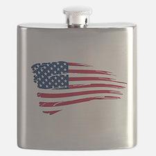Tattered US Flag Flask