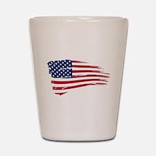 Tattered US Flag Shot Glass