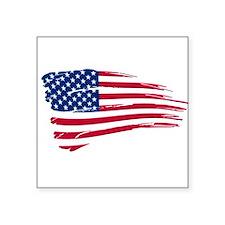 Tattered US Flag Sticker